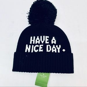 Kate Spade Have a Nice Day Beanie Knit Hat
